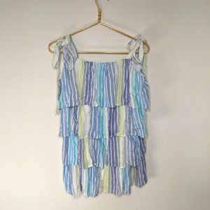 NWT Entro Tiered Tie Strap Swimsuit Coverup L